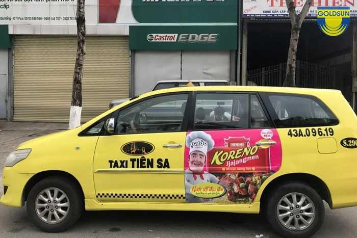 Báo giá quảng cáo xe taxi