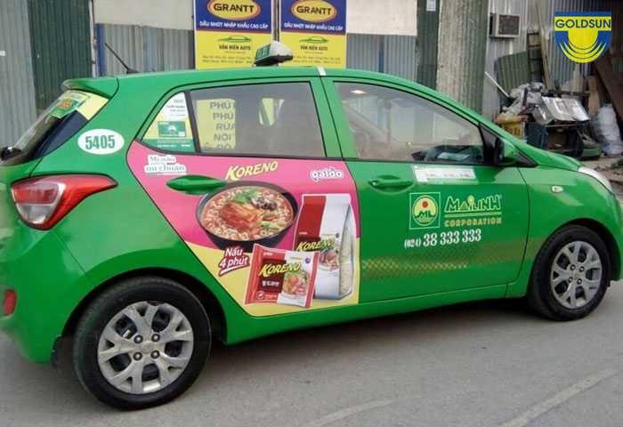 Top 5 hình thức quảng cáo trên xe taxi mang lại hiệu quả nhất