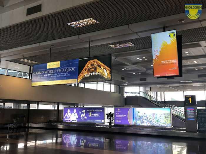 Kết quả hình ảnh cho biển hộp đèn LED sân bay