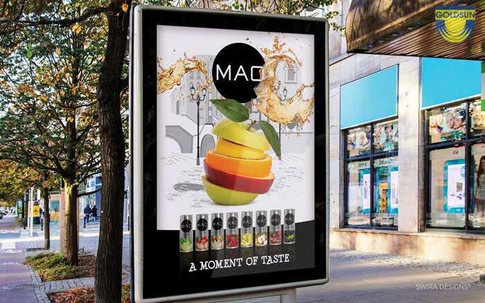 Mẫu quảng cáo ấn tượng của thương hiệu nước giải khát MAO