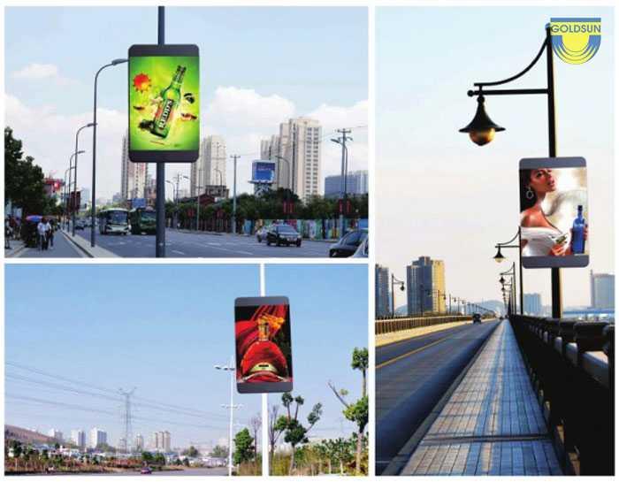biển quảng cáo hộp đèn led trên đường phố