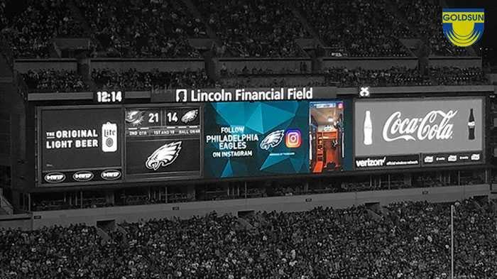 Màn hình quảng cáo kỹ thuật số cũng được ứng dụng trên các sân vận động