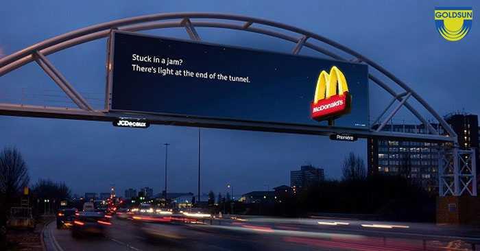 Một biển quảng cáo ấn tượng của McDonald's
