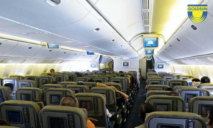 Hình ảnh quảng cáo trên máy bay của hãng hàng không Vietnam Airline