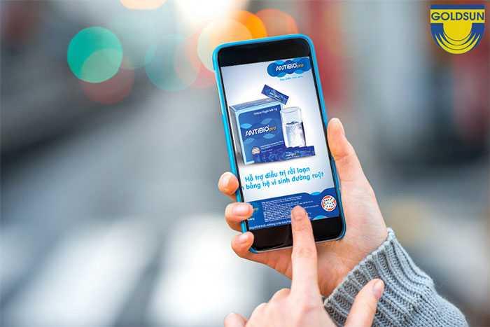 Quảng cáo wifi marketing dạng banner của nhãn hàng men vi sinh