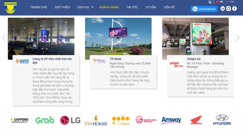 Goldsun Media Group là đối tác của nhiều nhãn hàng trong và ngoài nước.