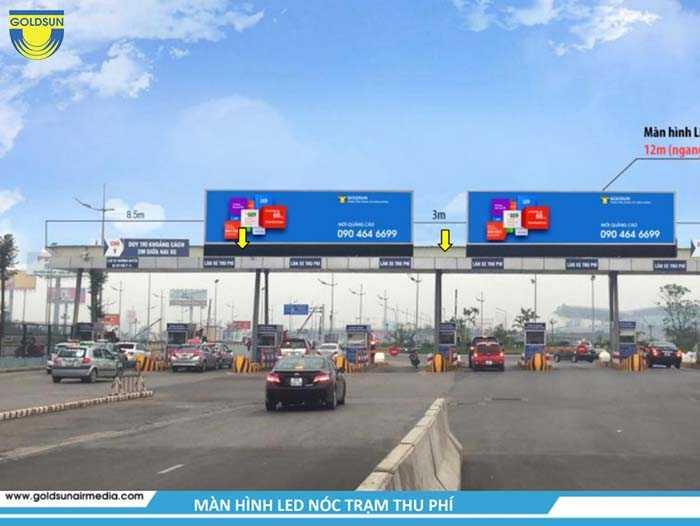 Quảng cáo trên màn hình chuyên quảng cáo trên nóc trạm thu phí chỉ sử dụng hình ảnh