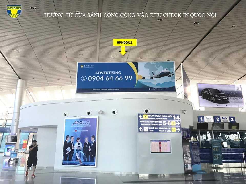 Hộp đèn nóc quầy Check-in ga Quốc Tế, Cảng hàng không quốc tế Cát Bi