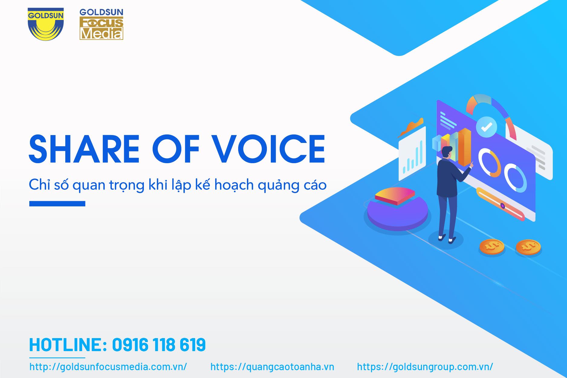 Share of Voices - Chỉ số quan trọng khi lập kế hoạch quảng cáo