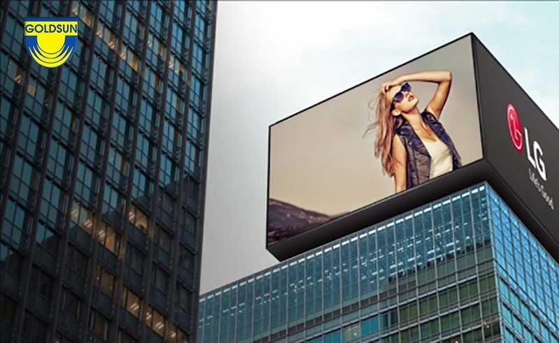 quảng cáo trên toà nhà cáo tầng