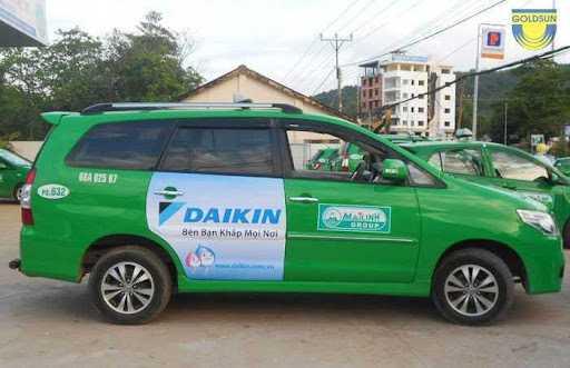 Quảng cáo trên taxi Mai Linh tại Huế