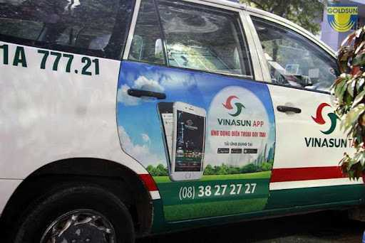 Quảng cáo trên taxi Vinasun tại Huế