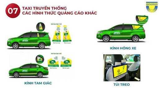 Quảng cáo trên mặt kính của xe taxi